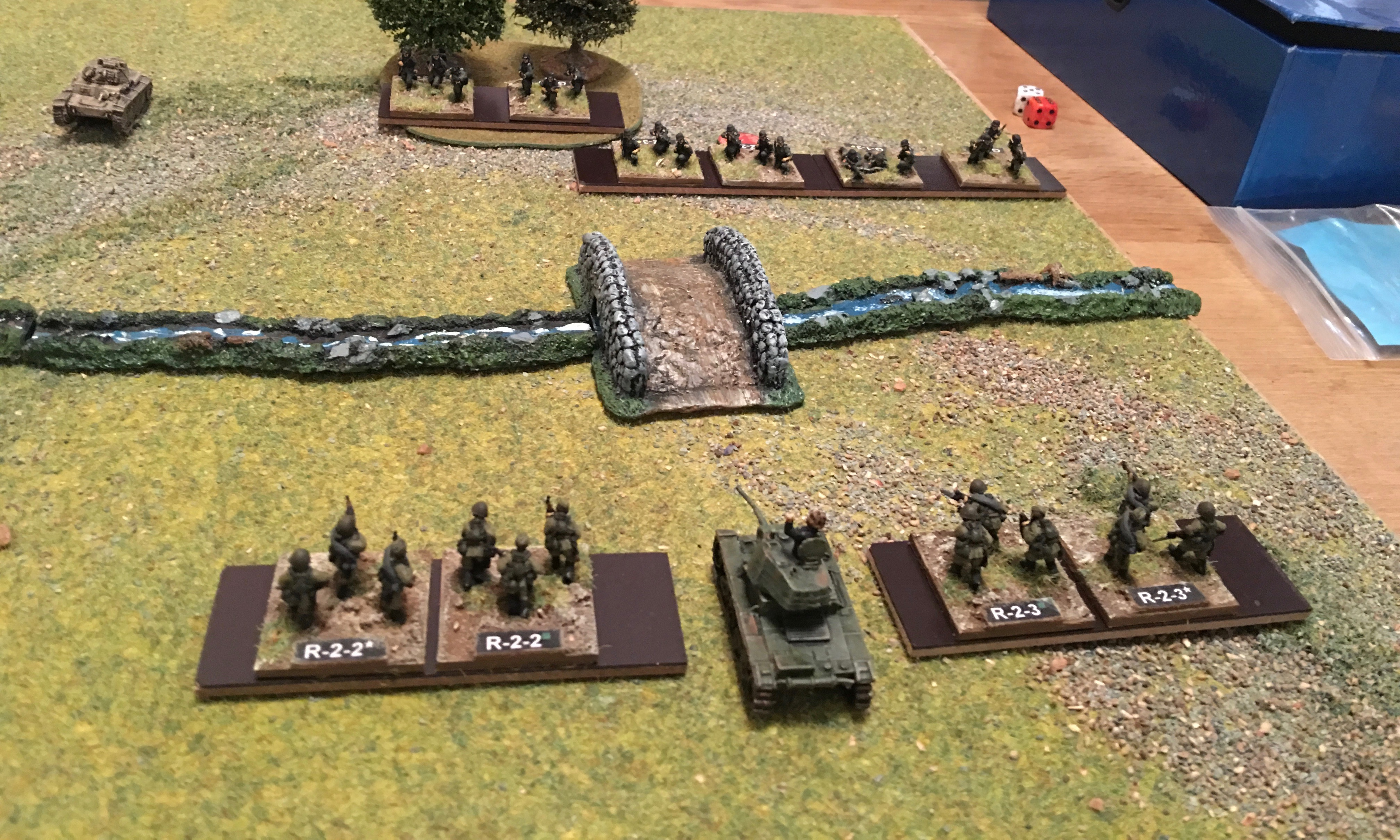 Photo from Steven Thomas wargame using One Hour Wargames rules