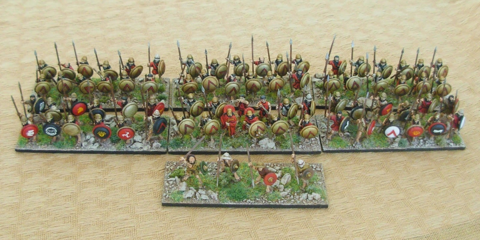 Photo from Steven Kelly 'Spartan vs. Athenian' wargame using One Hour Wargames rules
